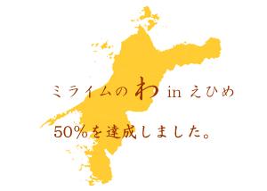 おかげさまで、愛媛県内でミライムをご利用頂いている先生の数が50%を超えました!