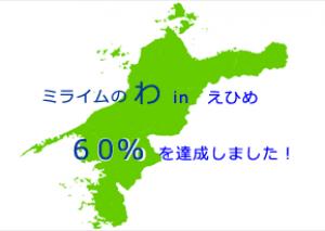 愛媛県内でミライムをご利用頂いている先生の数が60%を超えました!